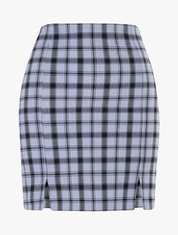 Mini jupe à imprimé tartan image number null