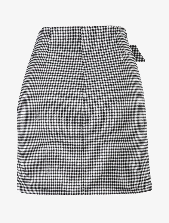 Mini jupe à imprimé petits carreaux - noir image number null