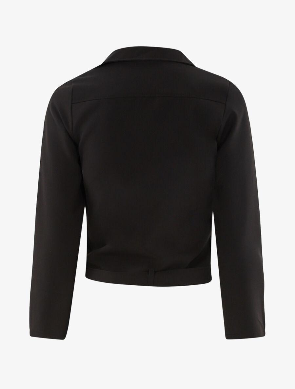 Veste zippée à bord ceinturé - noir image number null