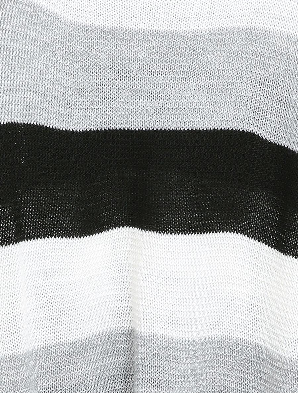 Pull loose à imprimé rayé et manches dolman - noir image number null