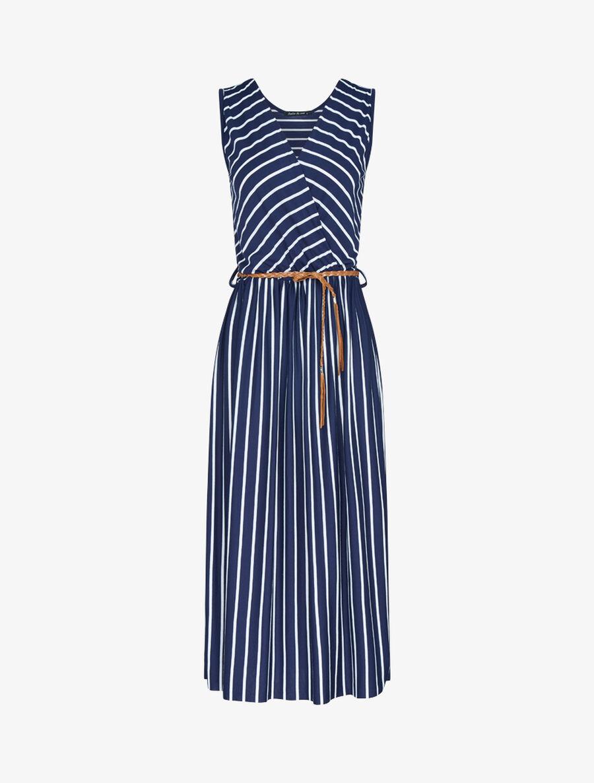 Robe longue à imprimé style marinière - marine image number null