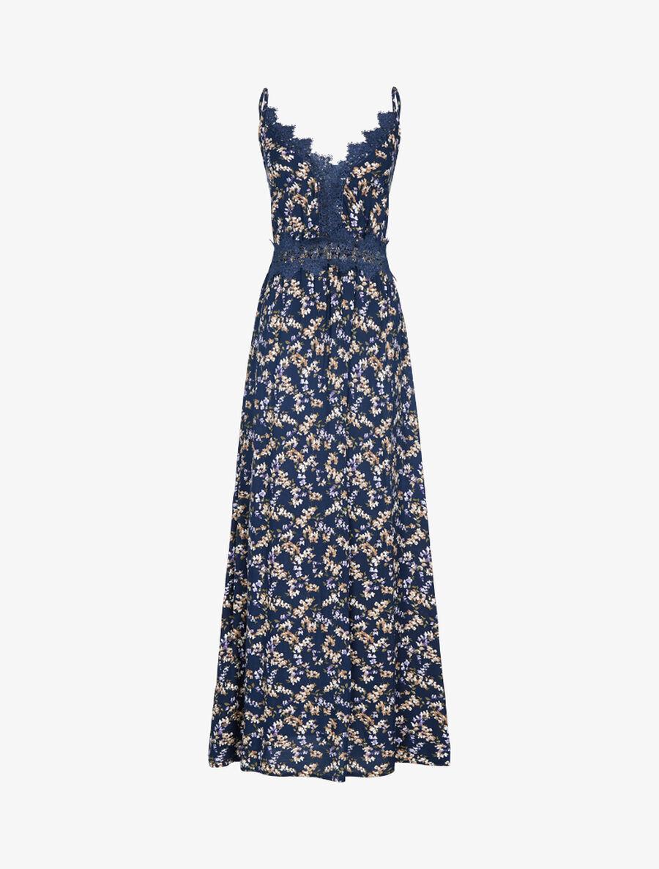 Robe fleurie à détails crochet - marine image number null