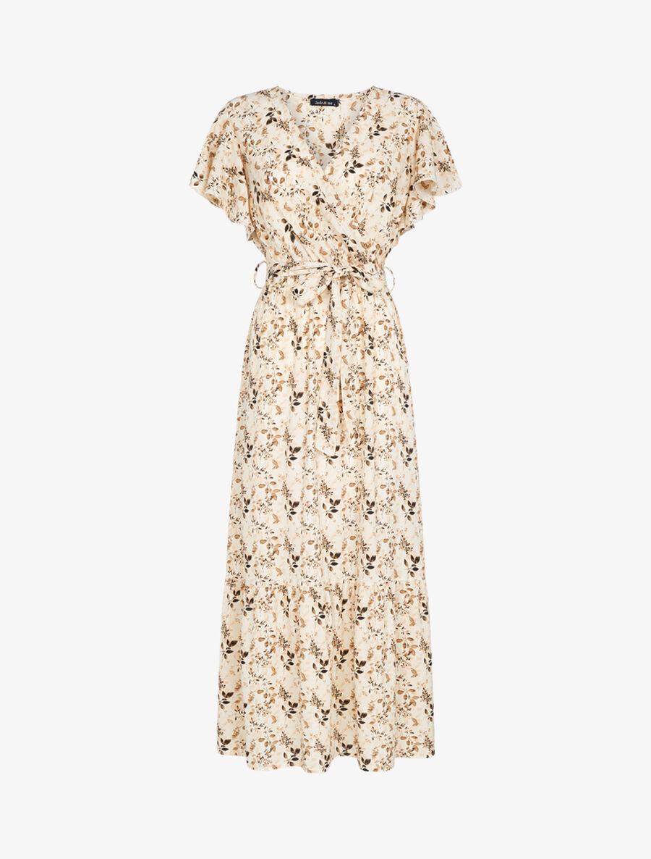 Robe à imprimé feuillages stylisés - beige image number null