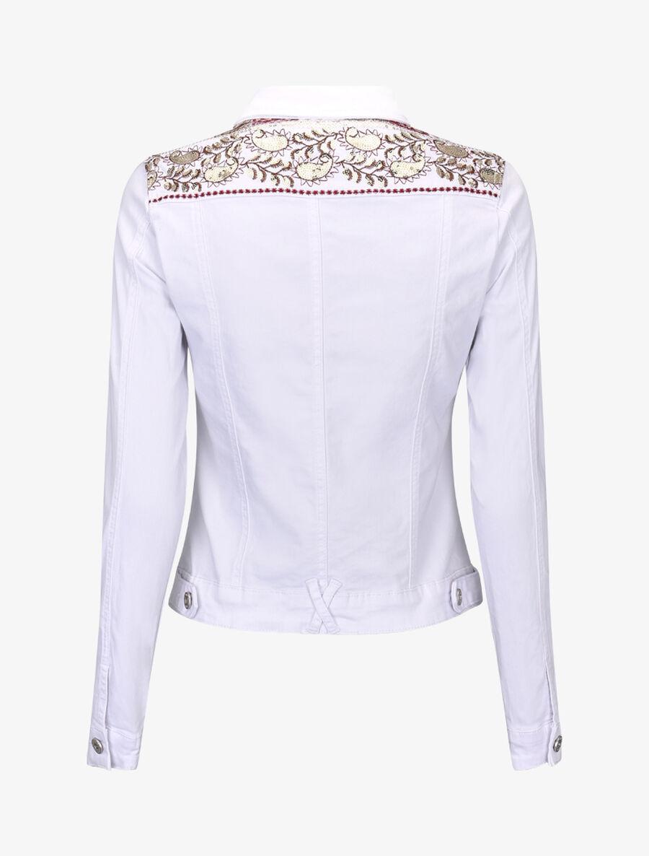 Veste ornée de sequins - blanc image number null