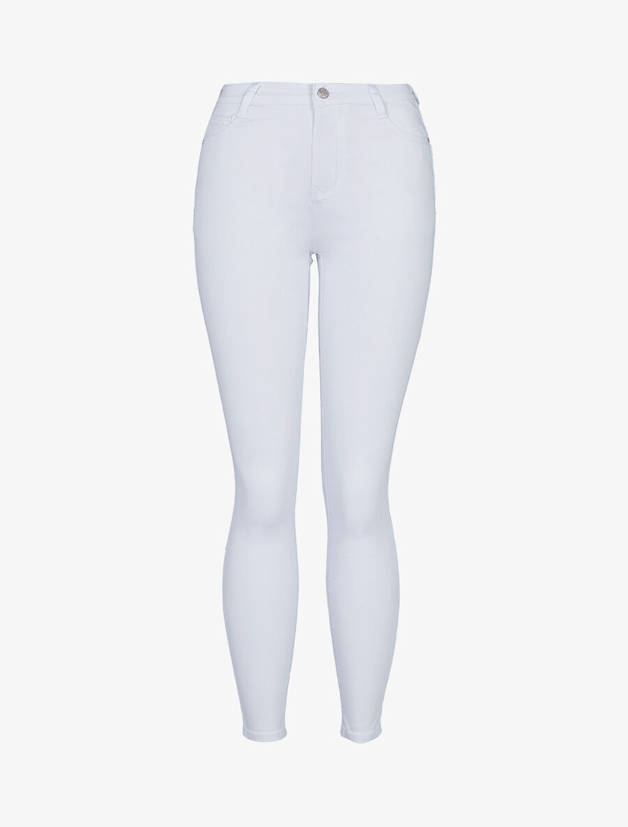 Jean coupe skinny push up - blanc image number null