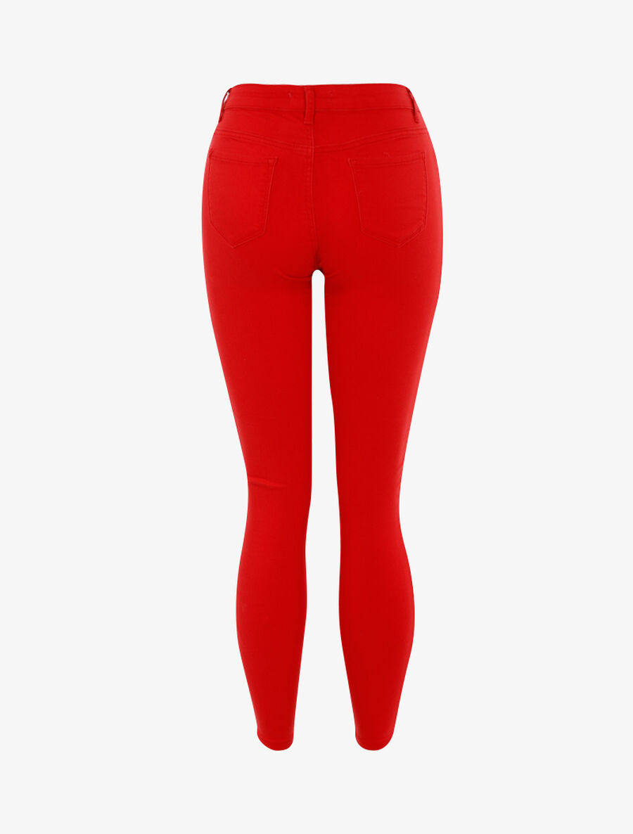 Jean stretch uni - rouge image number null