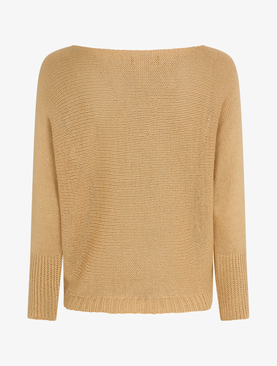 Pull à col bénitier et manches dolman - camel image number null