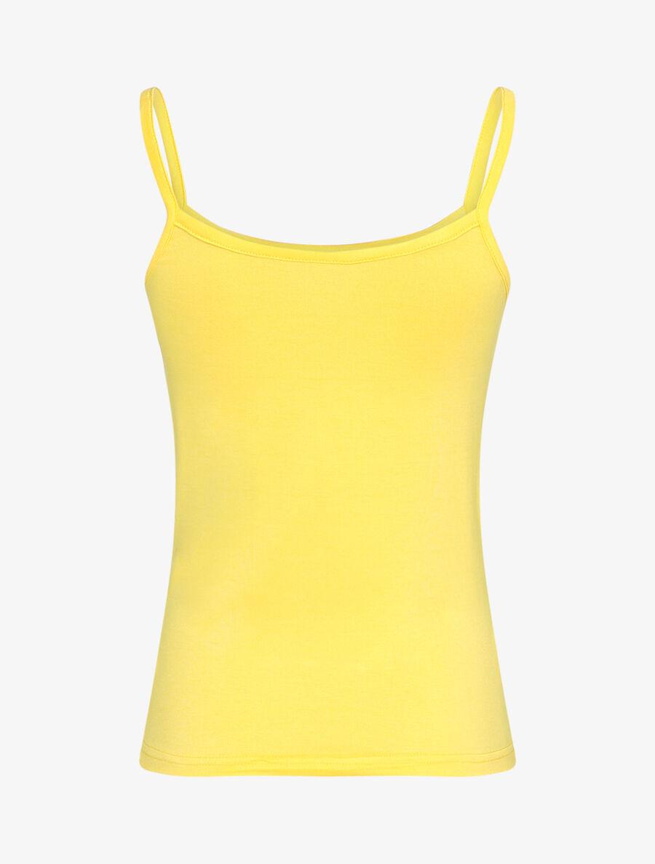 Débardeur fluide uni - jaune image number null
