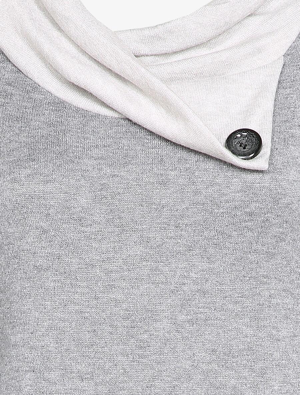 Robe pull à col asymétrique - gris chiné image number null