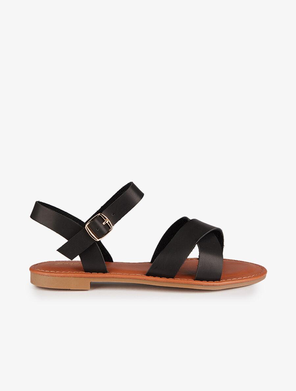 Nu-pieds basiques à ganses croisées - noir image number null
