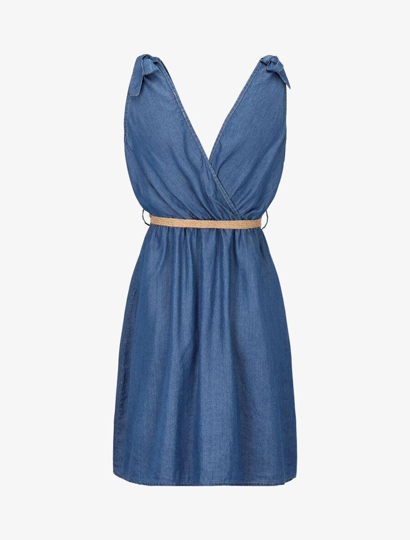 Robe en jean cache coeur - bleu denim image number null