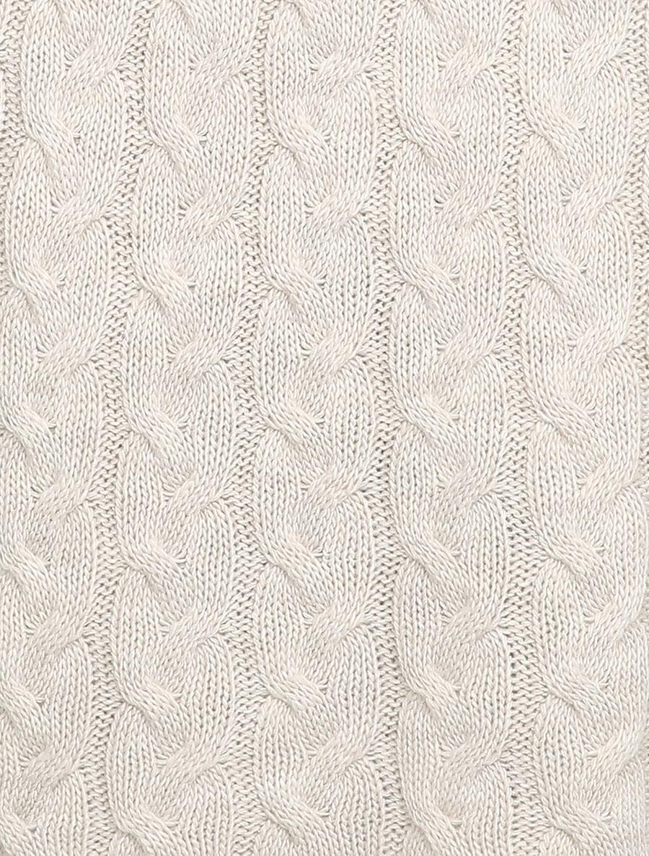 Robe pull en maille torsadée et taille côtelée - écru image number null