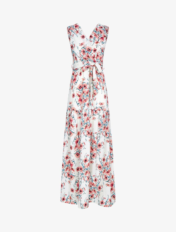 Robe à imprimé floral - ecru image number null