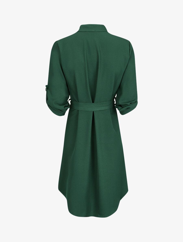Robe chemise unie - vert image number null