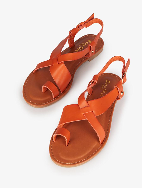 Nu-pieds basiques à entredoigt - orange image number null