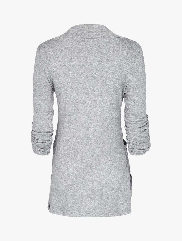 Gilet col châle - gris chiné image number null