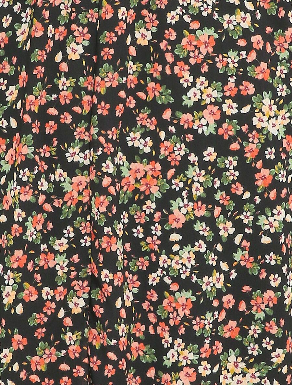 Robe patineuse à imprimé petites fleurs des champs - noir image number null