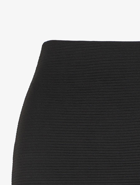 Jupe côtelée à taille haute - noir image number null