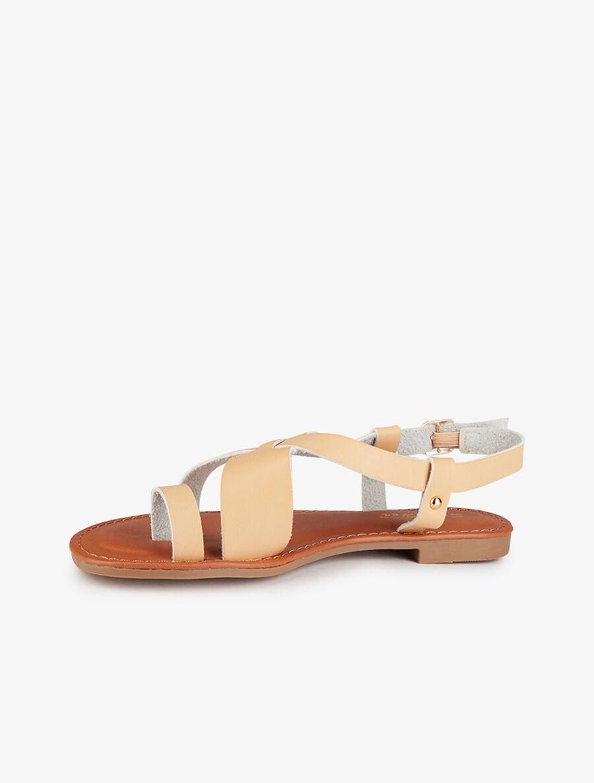 Nu-pieds basiques à entredoigt - beige image number null