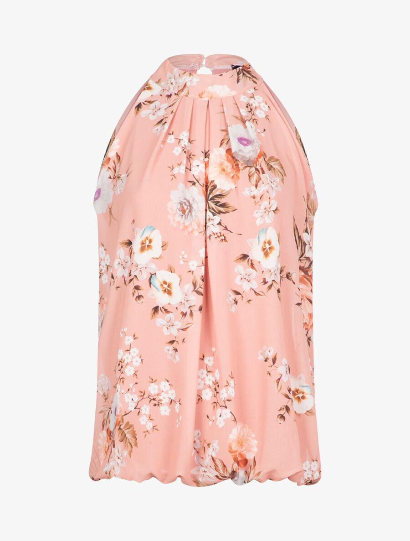 Top boule à imprimé floral - rose image number null