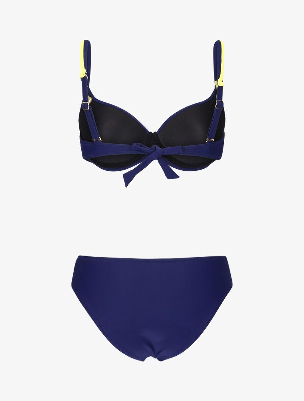 Bikini emboitant à oeillets et liens contrastants - marine image number null