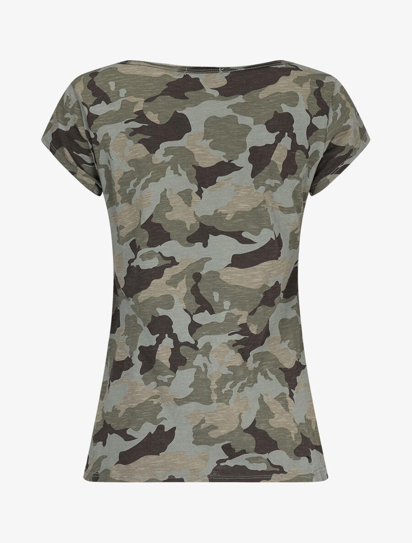 T-shirt imprimé aspect coton flammé image number null