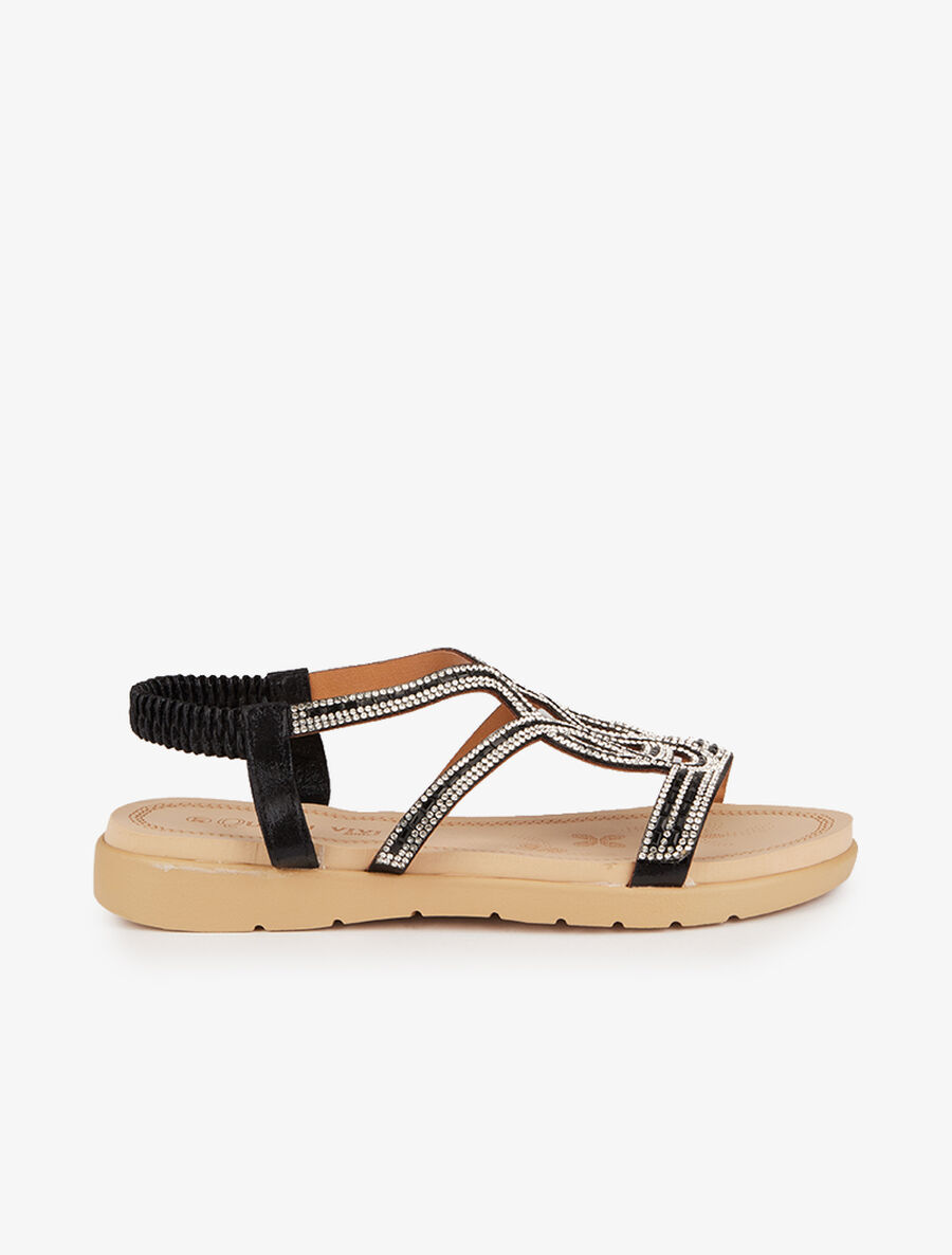 Nu-pieds style oriental en strass image number null