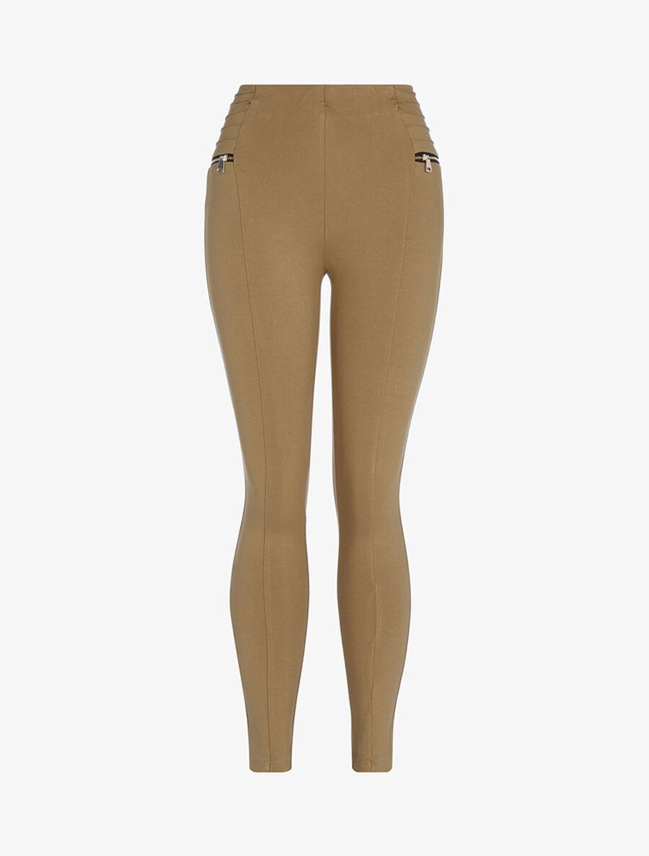 Legging à zips contrastants - camel image number null