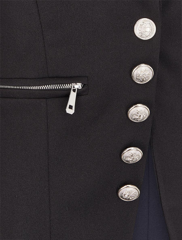 Blazer officier à boutons décoratifs - noir image number null