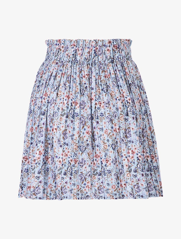 Jupe plissée à fleurs - bleu clair image number null