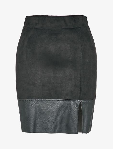Mini jupe en suédine coupe trapèze