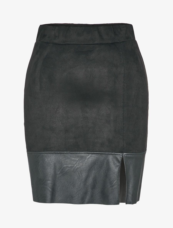 Mini jupe en suédine coupe trapèze image number null