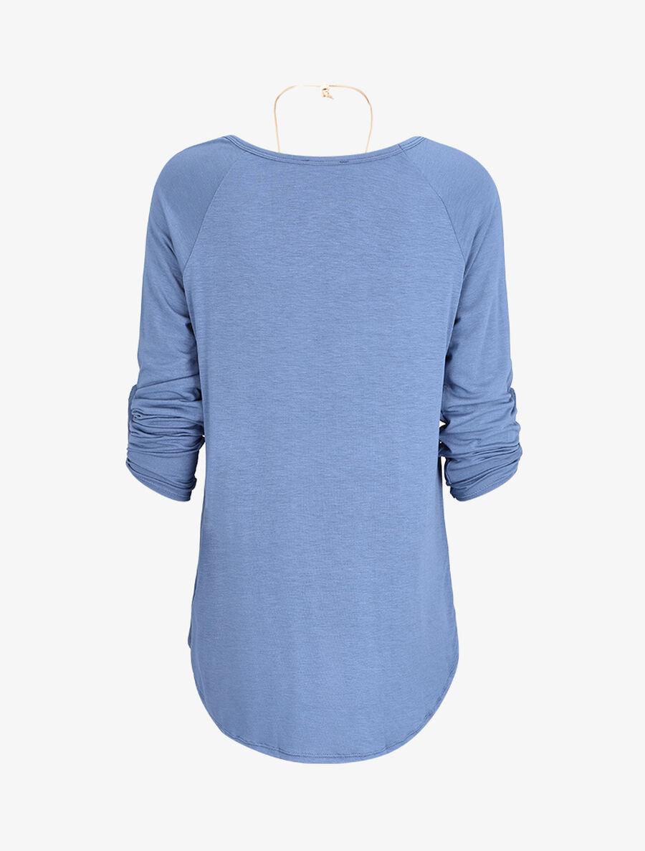 Tunique oversize avec sautoir - bleu image number null