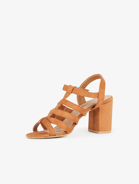 Sandales style spartiates à brides - camel image number null