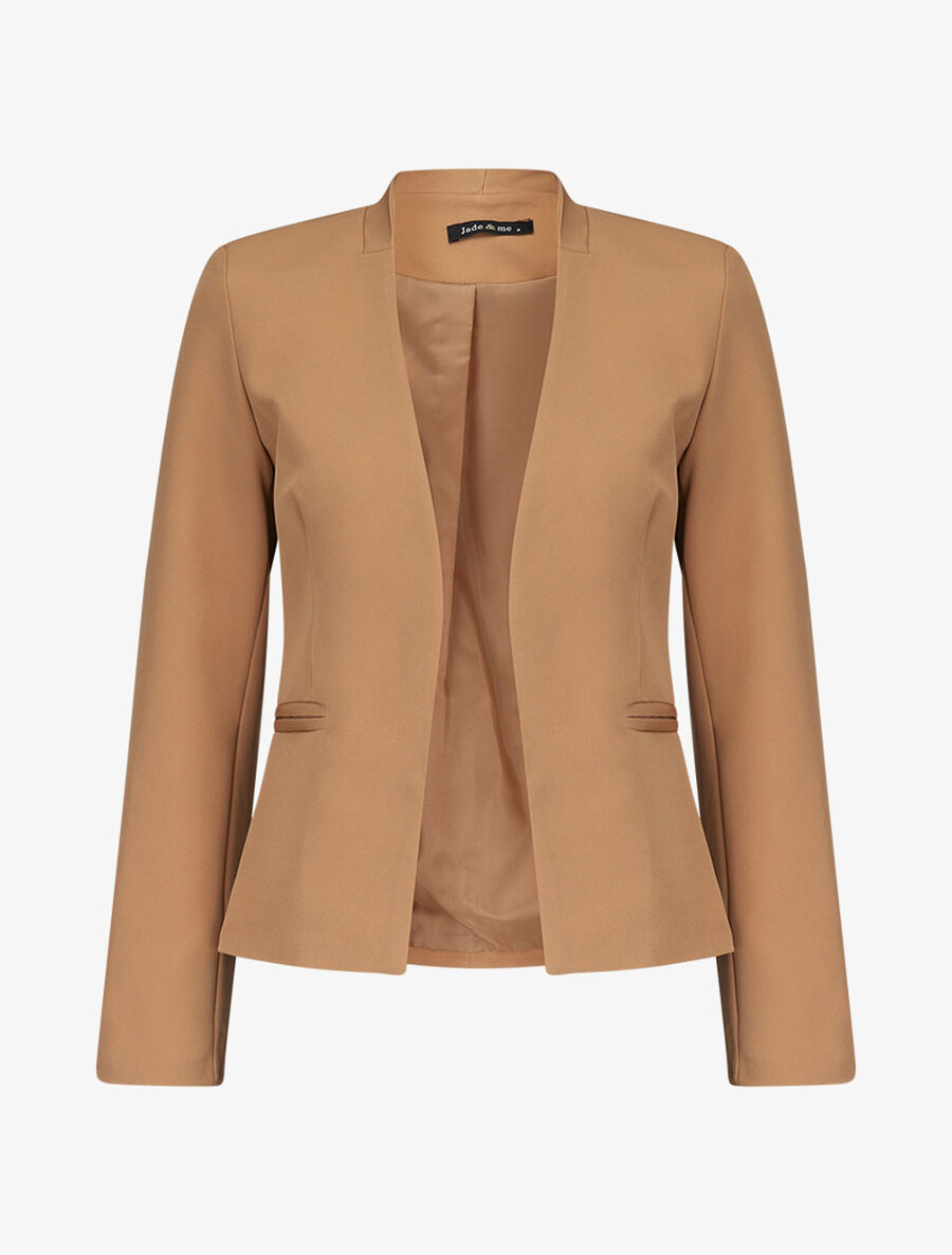 Blazer casual ouvert - camel image number null