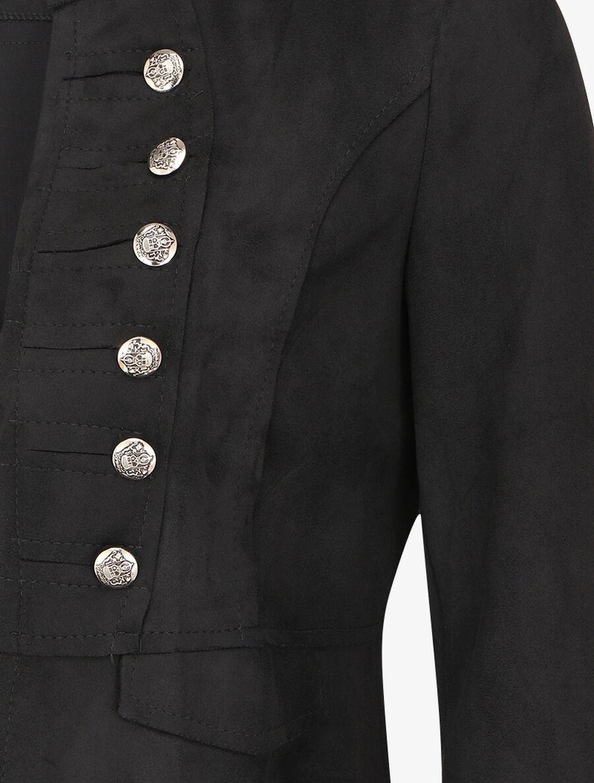 Veste courte en suédine style officier - noir image number null