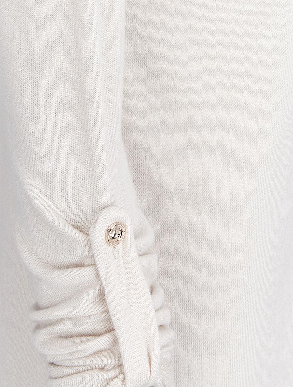 Pull à dos long en crochet - beige image number null