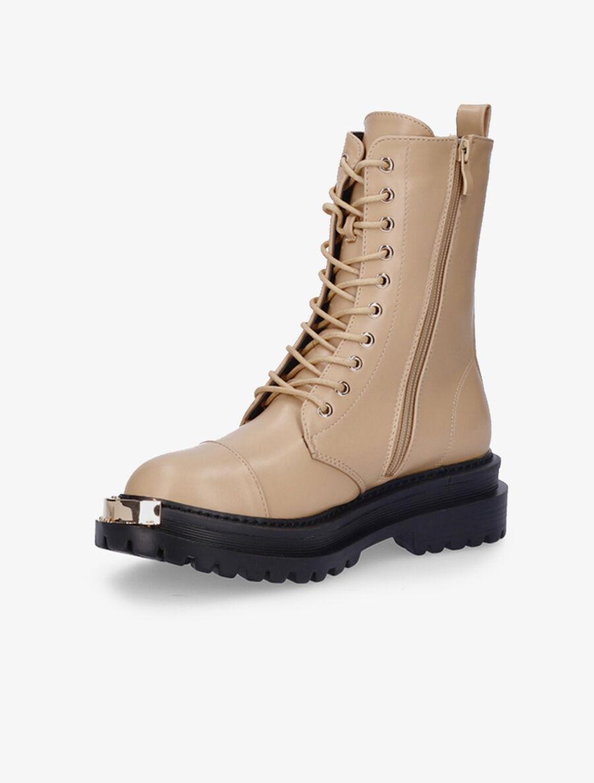 Boots montantes à bouts ronds à empiècements - nude image number null