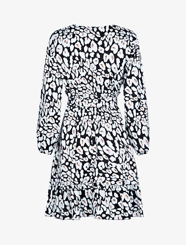 Robe patineuse à imprimés - noir image number null