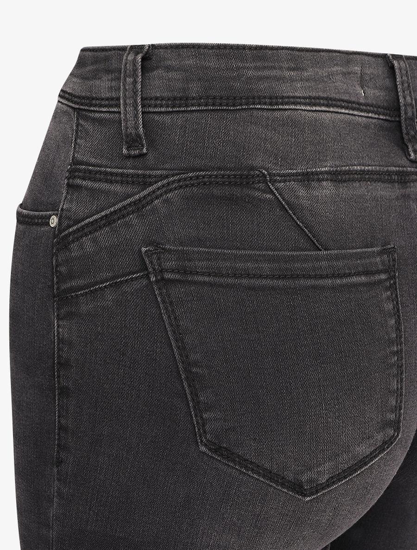 Jean skinny taille standard légèrement délavé - gris foncé image number null