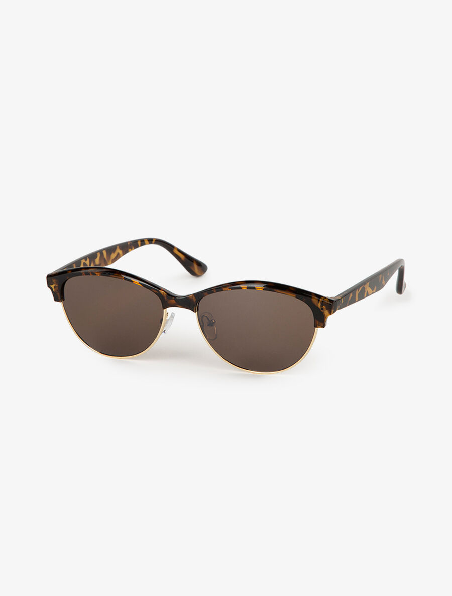 Lunettes ovales style clubmaster - camel image number null