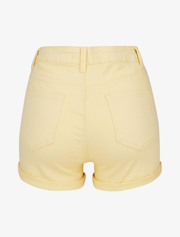 Mini short à boutonnière - jaune clair image number null