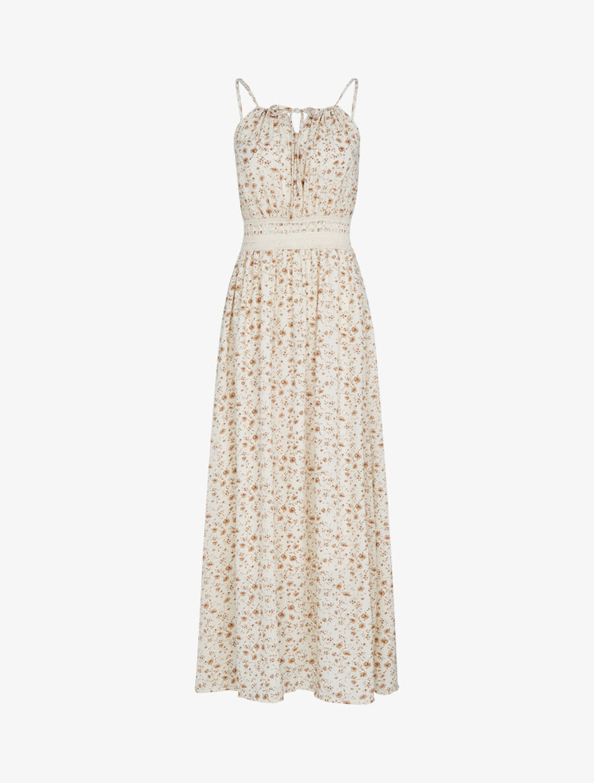 Robe à imprimé floral et crochet - beige image number null
