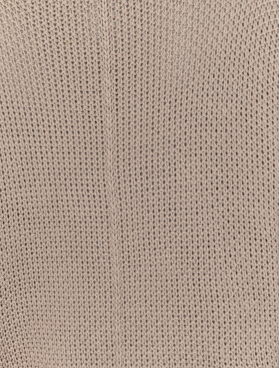 Pull oversize à manches 3/4 et col U - taupe image number null