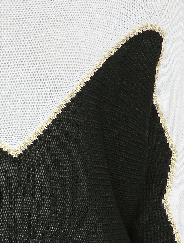 Pull en grosse maille à motif V irisé - noir image number null