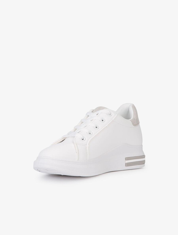 Sneakers plates à bandes suédées - gris image number null