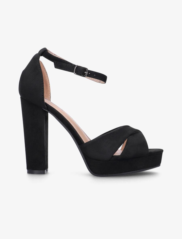Sandales à plateforme et à ganses croisées - noir image number null