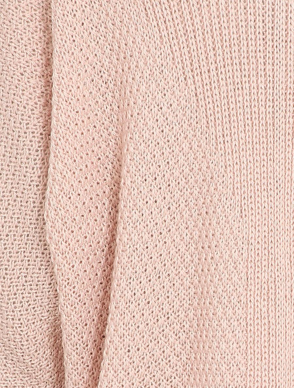 Gilet oversize à manches dolmans et détail en V au dos - rose poudré image number null