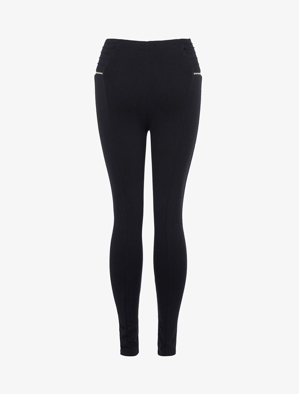 Legging à zips contrastants - noir image number null