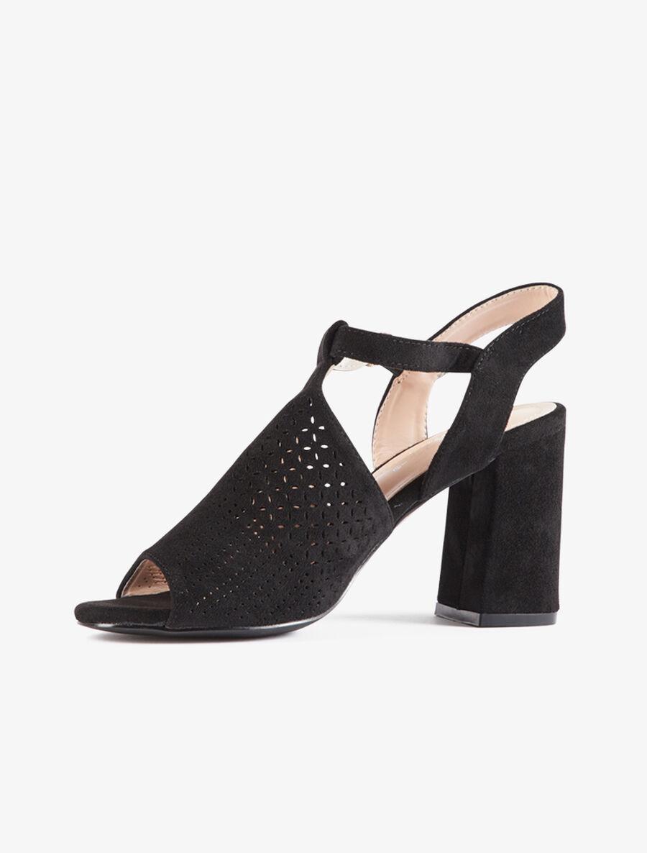 Peep-toes à claque piquetée - noir image number null